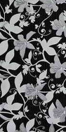 wall decoration Floris black 29,8x59,8