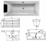 Squaro квариловая ванна 180x80 см