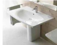 CARO washbasin 70 x 50,5 + pedestal