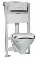 Комплект: стеллаж SLIM, унитаз IDOL, кнопка белая,  сиденье Pure slow-closing