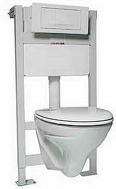 Комплект PRO инсталляция для унитаза, PRO кнопка,  MERIDIAN-N подвесной унитаз,сиденье твердое slow- closing