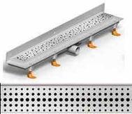 душ канал фланець вертикальний МСН 850 мм + реш. бейсік