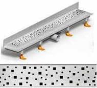 душ канал фланець вертикальний МСН 750 мм + реш. квадрат