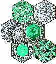 wall mosaic Lace absinthe 22,1x29,8