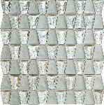 wall mosaic Drops stone white glass 30x30