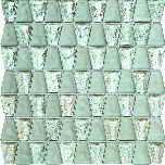wall mosaic Drops glass white 30,4x30,6