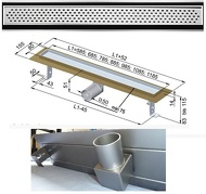 """Душовий канал із нержавіючої сталі з горизонтальним фланцем з решіткою """"Овал"""""""