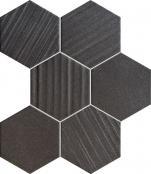 Mozaika ścienna Horizon hex black 28,9x22,1