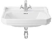 Carmen Washbasin 600x480 1TH WHTE