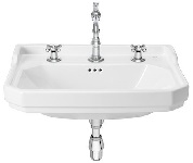 Carmen Washbasin 600x480 3TH WHTE