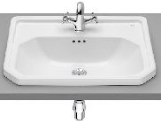 Carmen Washbasin 600X450 INSET 1TH WHTE