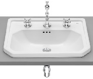 Carmen Washbasin 600X450 INSET 3TH WHTE