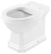 Carmen Single floorstanding Rimless WC with dual outlet