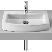 Hall Washbasin 52x44cm countertop with hole for tap